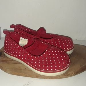 Red Corduroy Mary Jane shoes